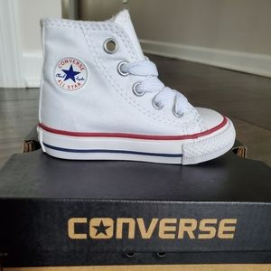 Converse All Star White High Top Shoes
